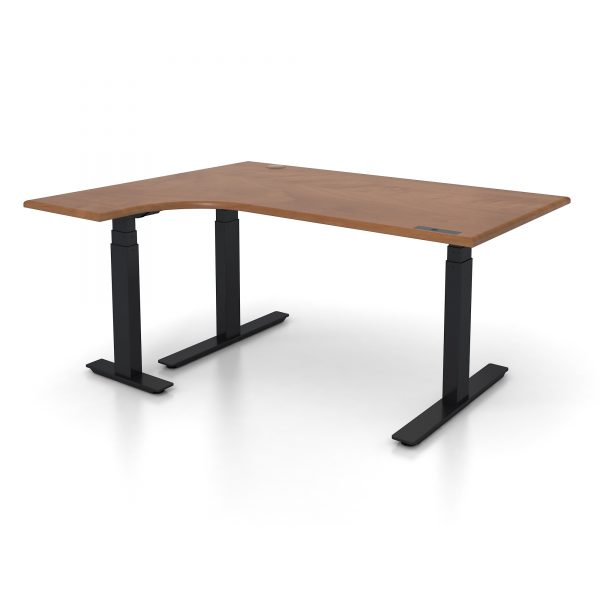 sit to stand l shaped workstation