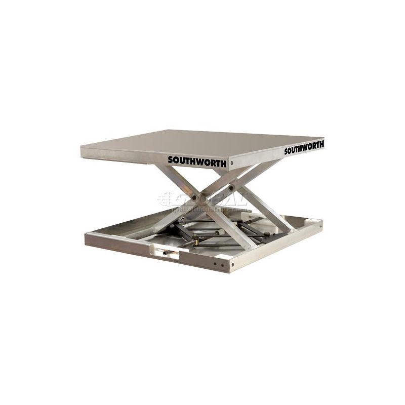 Southworth Lift Tool 4429108 Aluminum Scissor Lift Table 300 Lb Capacity Ergospec