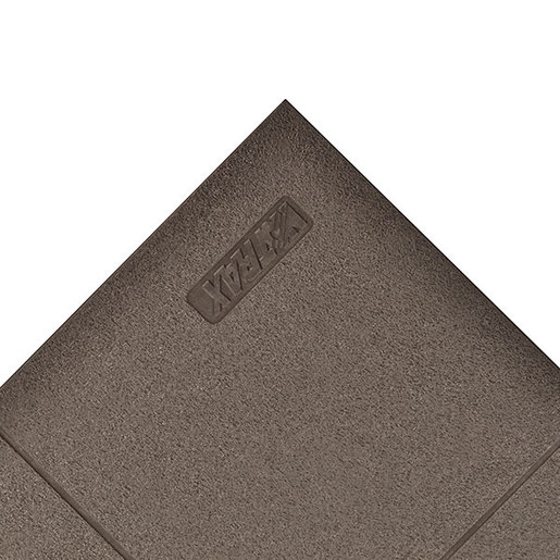 """Superior Manufacturing 3"""" X 3"""" Black 3/4""""  Thick Nitrile And  Rubber 656 Niru® Cushion-Ease® Solid Non-Slip Anti-Fatigue Floor Mat"""