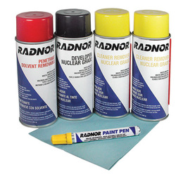 Radnor Nuclear Inspection Kit (Contains 1 Penetrant, 1 Developer, 2 Cleaners, Wiper And Paint Marker)