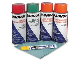 Radnor Standard Inspection Kit (Contains 1 Penetrant, 1 Developer, 2 Cleaners, Wiper And Paint Marker)
