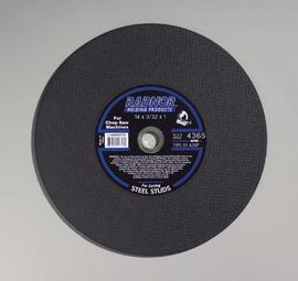 """Radnor 14"""" X 3/32"""" X 1"""" A36P Aluminum Oxide Reinforced Type 1 Cut Off Wheel For Use With Chop Saw On Steel Studs"""