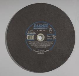 """Radnor 14"""" X 1/8"""" X 1"""" A30R Aluminum Oxide Reinforced Type 1 Cut Off Wheel For Use With Stationary Saw On Metal"""