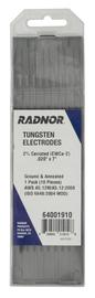 "Radnor 0.020"" X 7"" Ground Finish 2% Ceriated Tungsten Electrode (10 Per Package)"