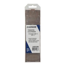 """Radnor 0.040"""" X 7"""" Ground Finish Zirconiated Tungsten Electrode (10 Per Package)"""