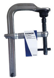 "Radnor 8"" Metal Heavy Duty Floor Clamp With Tempered Rail And Drop-Forged Sliding Arm"