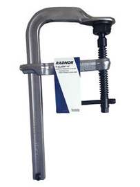 "Radnor 10"" Metal Heavy Duty Floor Clamp With Tempered Rail And Drop-Forged Sliding Arm"