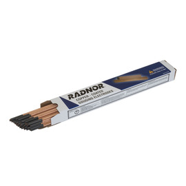 "Radnor 5/32"" X 12"" Carbon Coated Pointed Air/Carbon Arc Gouging Electrode (50 Per Box)"