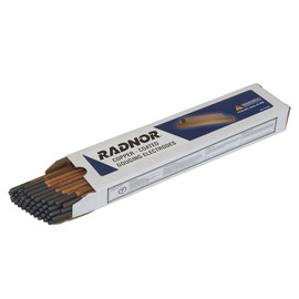 "Radnor 1/4"" X 12"" Copper-Coated Pointed Carbon Air/Carbon Arc Gouging Electrode (50 Per Box)"