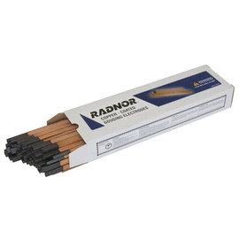 "Radnor 3/8"" X 5/32"" X 12"" Copper-Coated Flat Gouging Carbon Air/Carbon Arc Gouging Electrode (50 Per Box)"