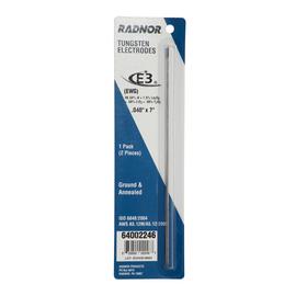 "Radnor .040"" X 7"" Ground Finish E3ª Tungsten Electrode (2 Per Card)"