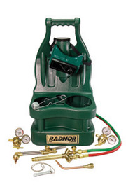 Radnor Victor Style Tote Light-Duty Acetylene Brazing, Welding And Cutting Outfit With Cylinder Carrier ,CGA-200 (Cylinders Not Included)