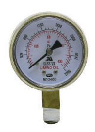 "Radnor 1 1/2"" X 200 PSI Brass Replacement Regulator Gauge"