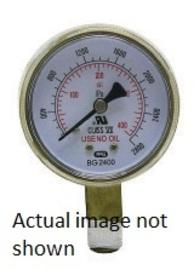 "Radnor 2 1/2"" X 200 PSI Brass Replacement Regulator Gauge"