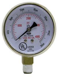 "Radnor 2 1/2"" X 4000 PSI Brass Replacement Regulator Gauge"