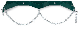Radnor Model WB200C Steel Double Cylinder Wall Bracket With Chain