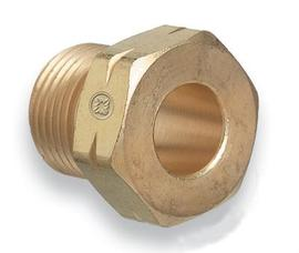 "Radnor 15-2 .88"" - 14 Male Left Hand Threaded Brass NGO Regulator Nut"