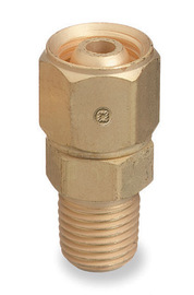 Radnor 104 A-Size Male To B-Size Female Left Hand Threaded Brass Acetylene/Fuel Gas Hose Adapter