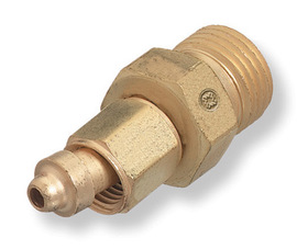 Radnor 106 B-Size Male To A-Size Female Left Hand Threaded Brass Acetylene/Fuel Gas Hose Adapter