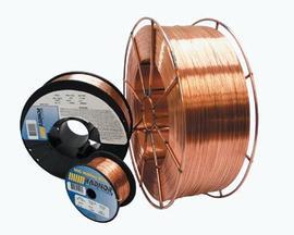 ".035"" ER70S-6 Radnor ArcPlus 6 Copper Coated Carbon Steel MIG Welding Wire 44# 12'' Fiber Spool"
