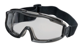 Radnor Indirect Vent Splash Goggles With Gray Low Profile Frame And Clear Lens
