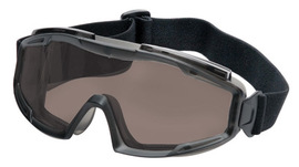 Radnor Indirect Vent Splash Goggles With Gray Low Profile Frame And Gray Lens