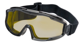 Radnor Indirect Vent Splash Goggles With Gray Low Profile Frame And Amber Lens