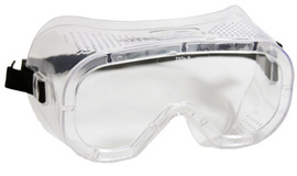 Radnor Direct Vent Dust Goggles With Clear Soft Frame And Clear Anti-Fog Lens (Bulk Packaging)