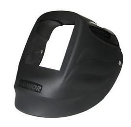 "Radnor Black Nylon RD Series Welding Helmet Shell With 5 1/4"" X 4 1/2"" Filter Opening"