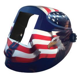 "Radnor Nylon RDX Series Welding Helmet Shell With 5 1/4"" X 4 1/2"" Fliter Opening And Allegiance Graphics"