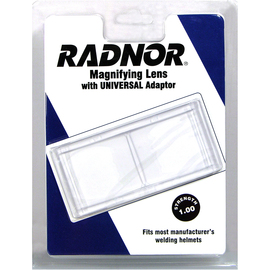"Radnor 2"" X 4 1/4"" 1 Diopter Polycarbonate Magnifying Lens With Universal Adapter"