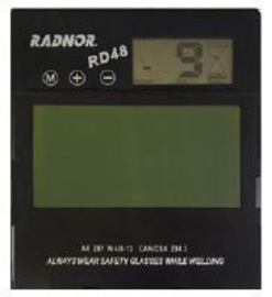 "Radnor 5 1/4"" X 4 1/2"" RD48 Variable Shade 9-13 Auto-Darkening Replacement Filter For Use With RD48 Welding Helmet"