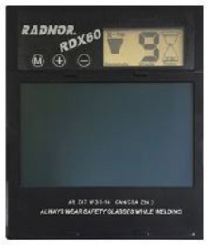 "Radnor 5 1/4"" X 4 1/2"" RDX60 Variable Shade 5-14 Auto-Darkening Replacement Filter For Use With RDX60 Welding Helmet"