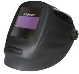 "Radnor RD48 Black Welding Helmet With 5 1/4"" X 4 1/2"" Variable Shade 9-13 Auto Darkening Lens"