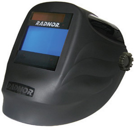 "Radnor RDX60 Black Welding Helmet With 5 1/4"" X 4 1/2"" Variable Shade 5-14 Auto Darkening Lens"