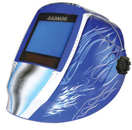 Radnor RDX81 Blue Welding Helmet 101 X 80 mm Variable Shade 5 - 14 Auto Darkening Lens And Blue Fusion Graphics