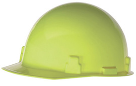 Radnor Hi-Viz Yellow SmoothDome Polyethylene Cap Style Standard Hard Hat With Suspension