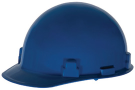 Radnor Blue SmoothDome Polyethylene Cap Style Hard Hat With Ratchet Suspension