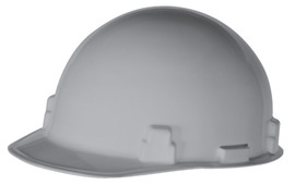 Radnor Gray SmoothDome Polyethylene Cap Style Hard Hat With Ratchet Suspension