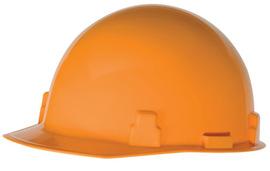 Radnor Hi-Viz Orange SmoothDome Polyethylene Cap Style Hard Hat With Ratchet Suspension