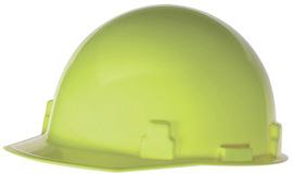 Radnor Hi-Viz Yellow SmoothDome Polyethylene Cap Style Hard Hat With Ratchet Suspension