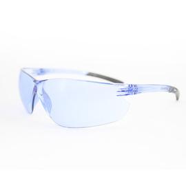 Radnor Classic Plus Series Safety Glasses With Clear Frame And Blue Polycarbonate Hard Coat Anti-Scratch Lens