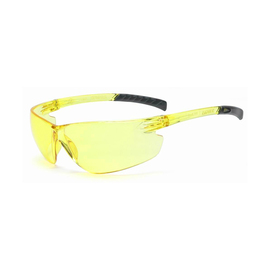 Radnor Classic Plus Series Safety Glasses With Amber Frame And Amber Polycarbonate Hard Coat Lens
