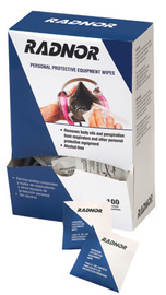 "Radnor 5"" X 8"" Alcohol Free Respirator Wipes (100 Per Box)"