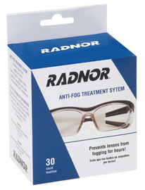 "Radnor 5"" X 8"" Anti-Fog Treatment Towelettes (30 Per Box)"