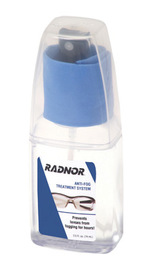 Radnor 2.5 Ounce Pump Bottle Anti-Fog Treatement System With Buffing Cloth