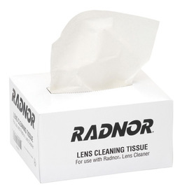 "Radnor 5"" X 8"" Low-Lint Lens Cleaning Tissue (300 Per Pop-Up Box)"