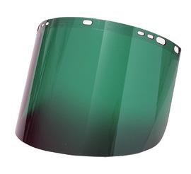 """Radnor 9 3/4"""" X 19"""" X .060"""" Dark Green Polycarbonate Faceshield"""
