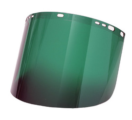"Radnor 9 3/4"" X 19"" X .060"" Green Shade 3 Polycarbonate Faceshield"