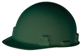 Radnor Green SmoothDome Polyethylene Cap Style Hard Hat With Ratchet Suspension